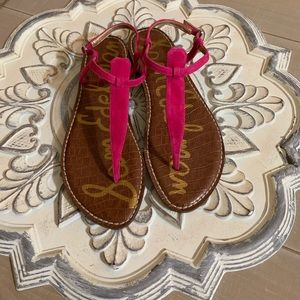 Sam Edelman hot pink suede Gigi sandal